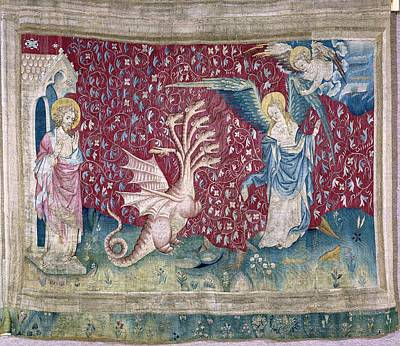 Tapestries Textiles Photograph - Bataille, Nicolas 14th C.. The Woman by Everett