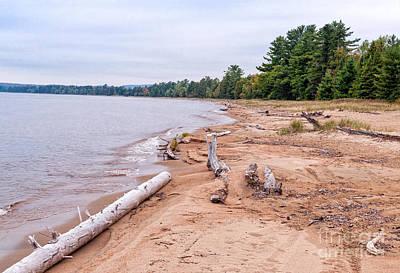 Ontario Photograph - Batchawana Bay Beach At Lake Superior  by Les Palenik