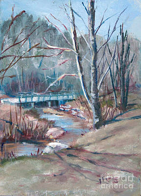 Painting - Walking The Greenway by Janet Felts