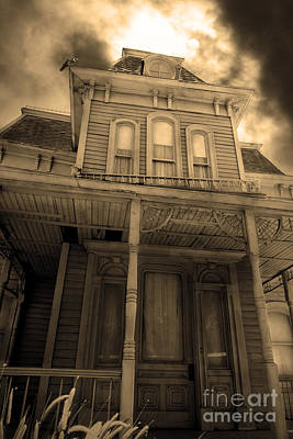 Bates Motel 5d28867 Sepia V2 Print by Wingsdomain Art and Photography