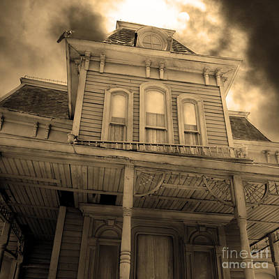Bates Motel 5d28867 Square Sepia V2 Print by Wingsdomain Art and Photography