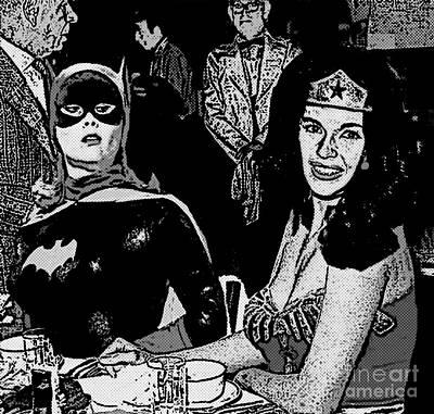 Batgirl Discovers Wonder Woman's Source Of Power Print by David Caldevilla