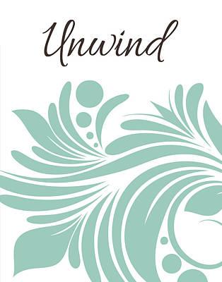 Unwind Painting - Bath Unwind Swirl by Tamara Robinson
