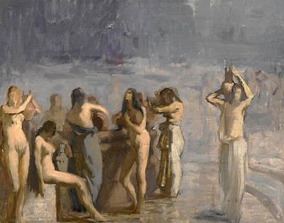 Georgio Painting - Bathers by Georgios Roilos