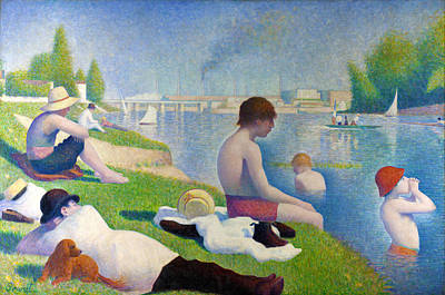 Bathers In Asnieres Print by Georges Seurat