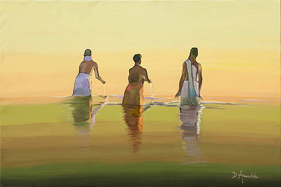 Bathing In The Holy River 3 Original by Dominique Amendola