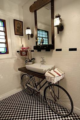 Bike Mixed Media - Bathroom Design 01 by Benjamin Bullins
