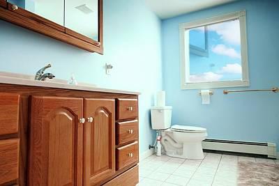 Bathroom Interior Print by Wladimir Bulgar