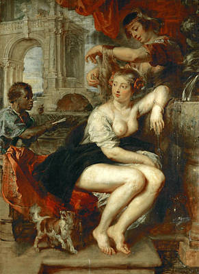 Bathsheba Painting - Bathsheba At The Fountain by Peter Paul Rubens