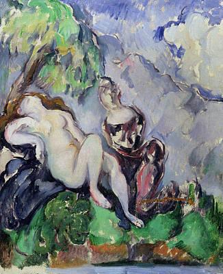 Bare Breasts Photograph - Bathsheba by Paul Cezanne