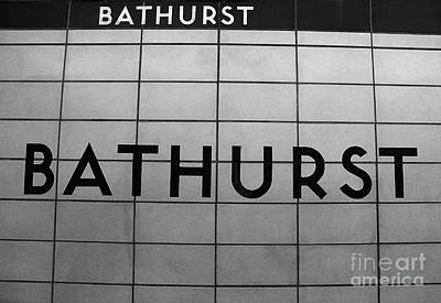 Bathurst Subway Stop Print by Nina Silver