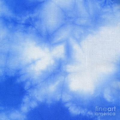 Batik Tapestry - Textile - Batik Blue And White by Kerstin Ivarsson