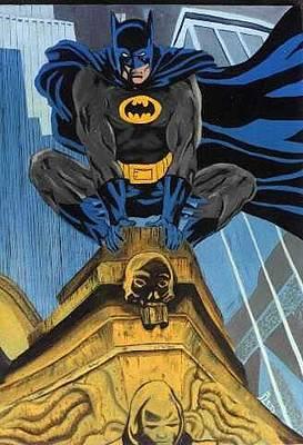 Batman Building Painting - Batman by Cleotha Williams