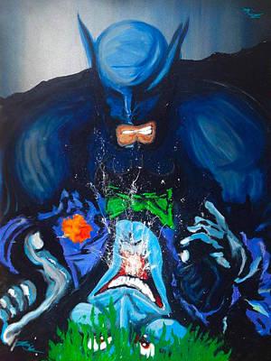 Riddler Painting - Batman Vs Joker by KWC Art