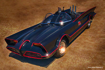 Batmobile Print by Tommy Anderson