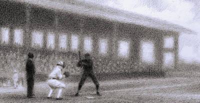 Baseball Parks Drawing - Batter by Steve Dininno