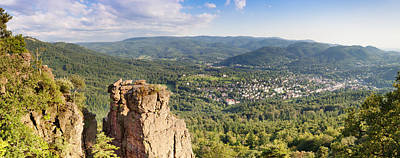 Hilltop Scenes Photograph - Battert-rock Formations, Baden-baden by Panoramic Images