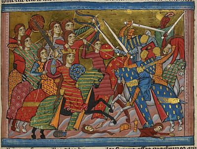 Scythian Photograph - Battle Between Amazons And Greeks by British Library