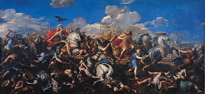 Pietro Da Cortona Painting - Battle Of Alexander Versus Darius by Pietro da Cortona