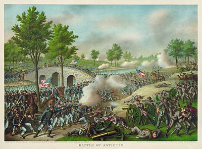 Wall Art Painting - Battle Of Antietam 1862 by Celestial Images