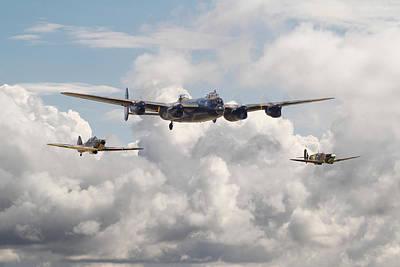 Battle Of Britain - Memorial Flight Print by Pat Speirs