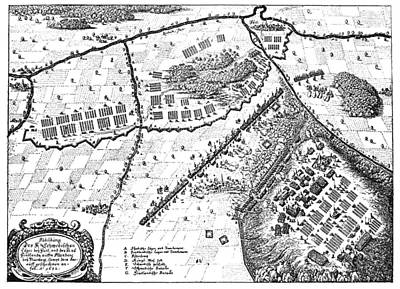 Battle Of Furth, 1632 Print by Granger