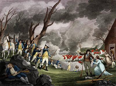 Battle Of Lexington, 1775 Print by Science Source