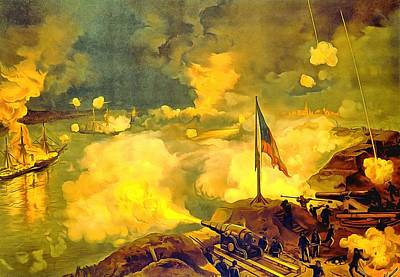 Yankees Painting - Battle Of Port Hudson by Vintage Image Collection