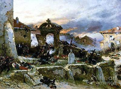 Cemetary Painting - Battle Of Saint Privat Cemetary by Pg Reproductions