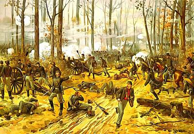 Yankees Painting - Battle Of Shiloh by Vintage Image Collection
