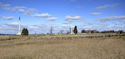 Civil War Battle Site Photograph - Battlefield At Gettysburg National Military Park by Brendan Reals