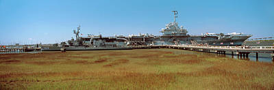 Battleship Photograph - Battleship At A Museum, Patriots Point by Panoramic Images