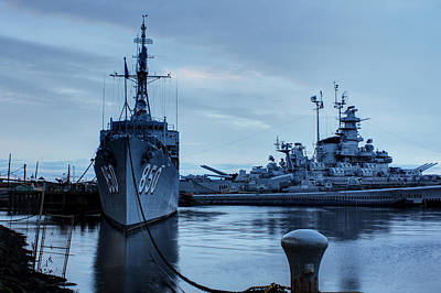 War Memorial Photograph - Battleship Cove by Andrew Pacheco