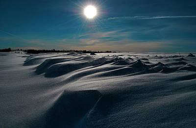 Snow Drifts Photograph - Battling For Melt  by Jerry Cordeiro