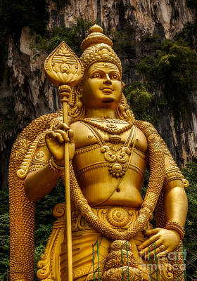 Malaysia Digital Art - Batu Statue by Adrian Evans