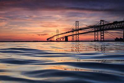 Bay Bridge Silk Print by Jennifer Casey