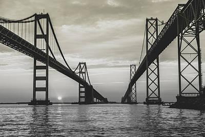Bay Bridge Strong Print by Jennifer Casey