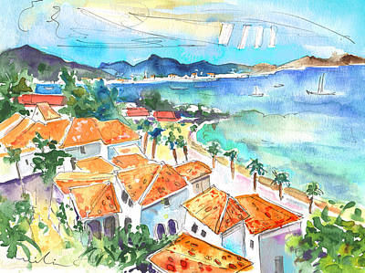 West Indies Drawing - Bay Of Saint Martin by Miki De Goodaboom