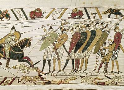Tapestries - Textiles Photograph - Bayeux Tapestry. 1066-1077. Tapestry by Everett