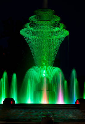 Bayliss Park Fountain Green Print by Becky Meyer