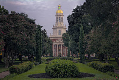 Baylor University Icon Print by Joan Carroll