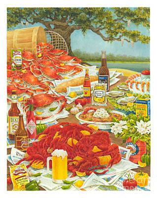 Bayou Banquet II Print by Joyce Hensley