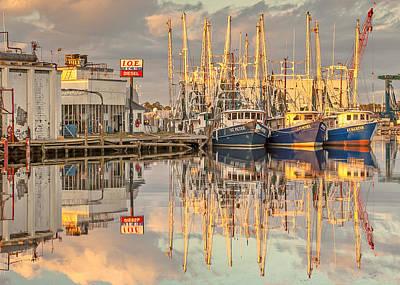Bayou La Batre' Al Shrimp Boat Reflections 39 Print by Jay Blackburn