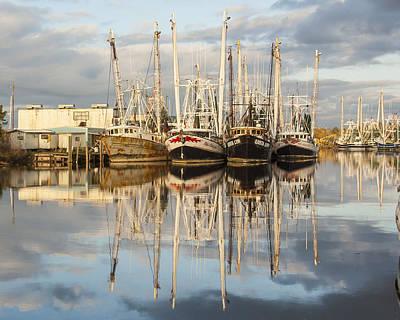 Bayou Labatre' Shrimp Boat Reflections 22 Print by Jay Blackburn