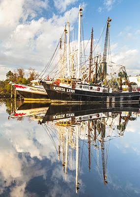 Bayou Labatre' Shrimp Boat Reflections 35 Print by Jay Blackburn