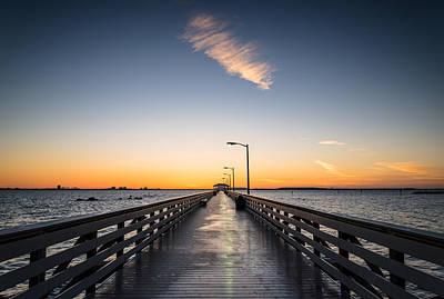 Pier Digital Art - Bayshore Morning by Clay Townsend