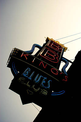 Bb King Blues Club Print by Off The Beaten Path Photography - Andrew Alexander