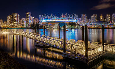Jetty Photograph - Bc Place by Alexis Birkill