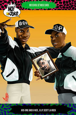 Rap Digital Art - Bdp Ntv Card by Nelson dedos Garcia