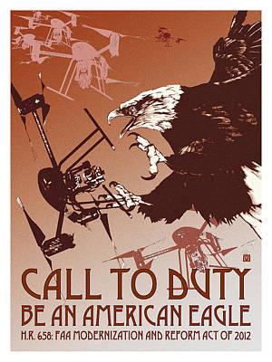 Free Speech Digital Art - Be An American Eagle by Philip Slagter